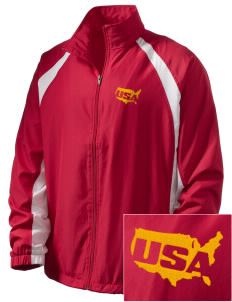 U.S. Marine Corps  Embroidered Men's Full Zip Warm Up Jacket