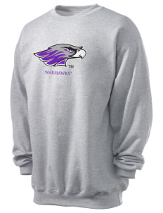 University of Wisconsin-Whitewater Warhawks Men's 7.8 oz Lightweight Crewneck Sweatshirt