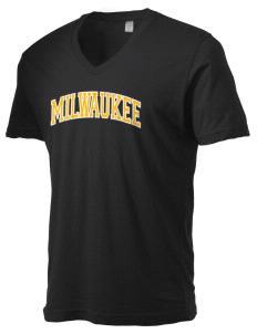 University of Wisconsin-Milwaukee Panthers Alternative Men's 3.7 oz Basic V-Neck T-Shirt