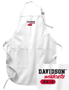 Davidson College Wildcats Embroidered Full-Length Apron with Pockets
