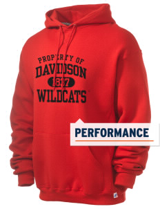 Davidson College Wildcats Russell Men's Dri-Power Hooded Sweatshirt