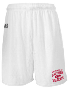 "Davidson College Wildcats  Russell Men's Mesh Shorts, 7"" Inseam"