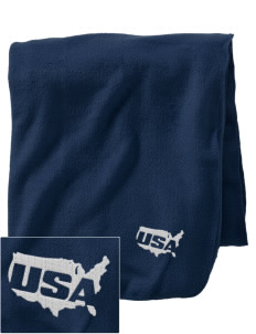 Bellows AFB Embroidered Holloway Stadium Fleece Blanket