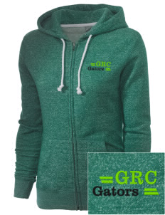 Green River Community College Gators Embroidered Women's Marled Full-Zip Hooded Sweatshirt