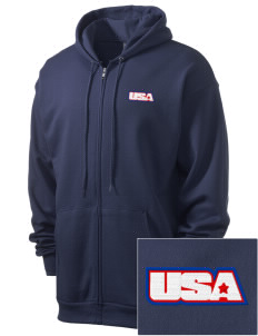 Air National Guard Men's 7.8 oz Lightweight Full-Zip Hooded Sweatshirt