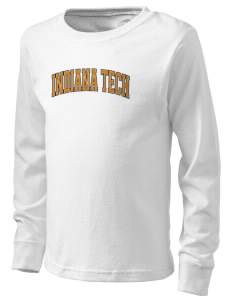 Indiana Tech Warriors  Kid's Long Sleeve T-Shirt