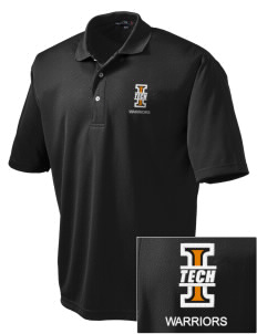 Indiana Tech Warriors Embroidered Men's Dri Mesh Polo