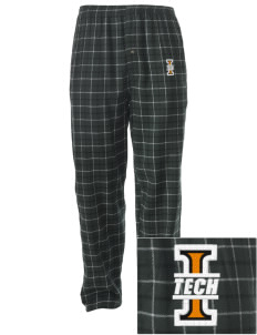 Indiana Tech Warriors Embroidered Men's Button-Fly Collegiate Flannel Pant