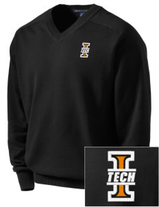 Indiana Tech Warriors Embroidered Men's V-Neck Sweater