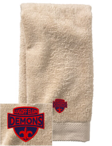 Lugoff Elgin High School Demons  Embroidered Zero Twist Resort Hand Towel