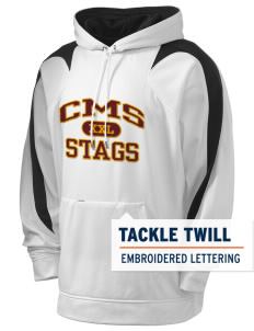 Claremont-Mudd-Scripps Men's Athletics Stags Holloway Men's Sports Fleece Hooded Sweatshirt with Tackle Twill