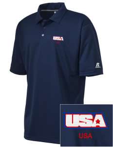 U.S. Navy Embroidered Russell Coaches Core Polo Shirt