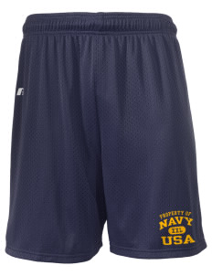 "U.S. Navy  Russell Men's Mesh Shorts, 7"" Inseam"