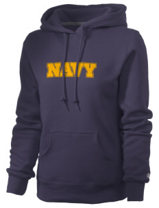 U.S. Navy Russell Women's Pro Cotton Fleece Hooded Sweatshirt