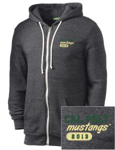 California Polytechnic State University Mustangs Embroidered Alternative Men's Rocky Zip Hooded Sweatshirt