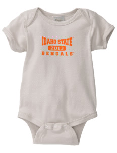 Idaho State University Bengals  Baby Organic Lap Shoulder Creeper