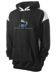 Northern Arizona University Lumberjacks Men's Pullover Hooded Sweatshirt with Contrast Color