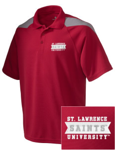 St. Lawrence University Saints Embroidered Holloway Men's Frequency Performance Pique Polo