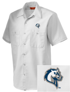Mercy College Mavericks Embroidered Men's Cornerstone Industrial Short Sleeve Work Shirt