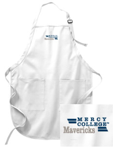 Mercy College Mavericks Embroidered Full-Length Apron with Pockets