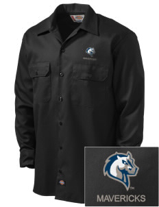 Mercy College Mavericks Embroidered Dickies Men's Long-Sleeve Workshirt