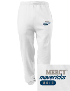Mercy College Mavericks Embroidered Men's Sweatpants with Pockets
