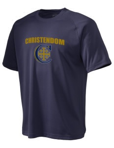 Christendom College Crusaders Men's Dry Zone Short Sleeve Raglan T-Shirt