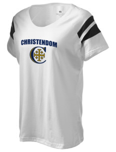 Christendom College Crusaders Holloway Women's Shout Bi-Color T-Shirt