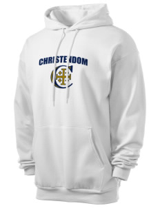 Christendom College Crusaders Men's 7.8 oz Lightweight Hooded Sweatshirt