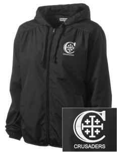 Christendom College Crusaders Embroidered Women's Hooded Essential Jacket