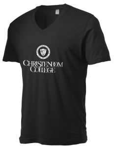 Christendom College Crusaders Alternative Men's 3.7 oz Basic V-Neck T-Shirt