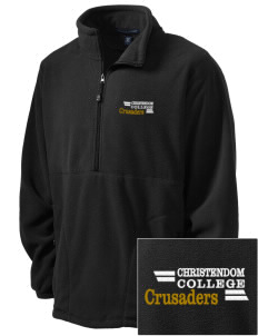 Christendom College Crusaders Embroidered Men's Wintercept Fleece Quarter-Zip Jacket
