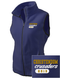 Christendom College Crusaders Embroidered Women's Fleece Vest