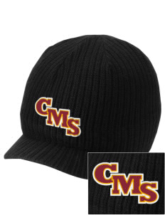 Claremont-Mudd-Scripps Women's Athletics Athenas Embroidered Knit Beanie with Visor