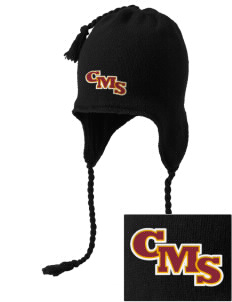 Claremont-Mudd-Scripps Women's Athletics Athenas Embroidered Knit Hat with Earflaps