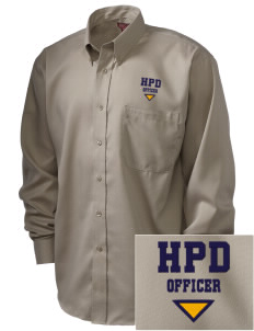Hillcrest Police Department  Embroidered Men's Nailhead Non-Iron Button-Down