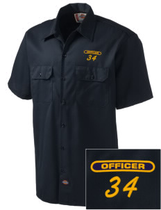 Hillcrest Police Department Embroidered Dickies Men's Short-Sleeve Workshirt