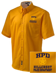 Hillcrest Police Department Embroidered Men's Easy Care Shirt
