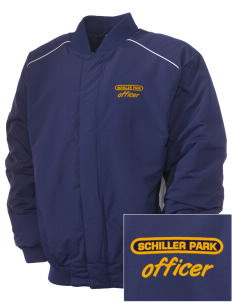 Schiller Park Police Department Embroidered Russell Men's Baseball Jacket