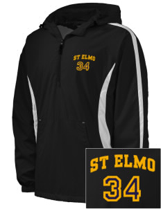 St Elmo Police Department Embroidered Men's Colorblock Raglan Anorak