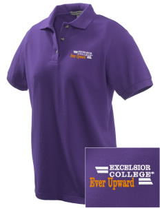 Excelsior College Start to Finish Embroidered Women's Pique Polo