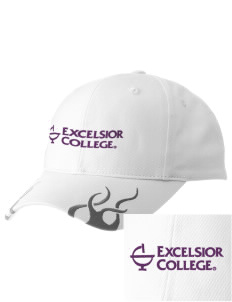 Excelsior College Start to Finish  Racing Cap with Flames