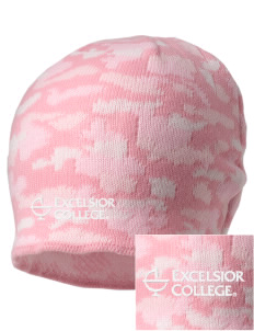 Excelsior College Start to Finish Embroidered Camo Beanie