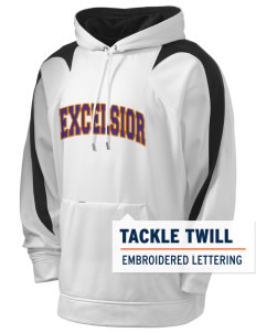 Excelsior College Start to Finish Holloway Men's Sports Fleece Hooded Sweatshirt with Tackle Twill