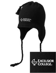 Excelsior College Start to Finish Embroidered Knit Hat with Earflaps