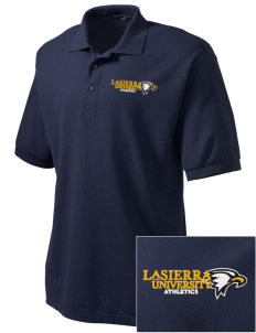 La Sierra University Golden Eagles Embroidered Men's Silk Touch Polo
