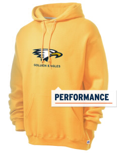 La Sierra University Golden Eagles Russell Men's Dri-Power Hooded Sweatshirt