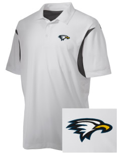La Sierra University Golden Eagles Embroidered Men's Back Blocked Micro Pique Polo