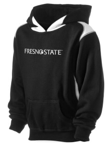 Fresno State Bulldogs Kid's Pullover Hooded Sweatshirt with Contrast Color