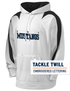 Central Baptist College Mustangs Holloway Men's Sports Fleece Hooded Sweatshirt with Tackle Twill